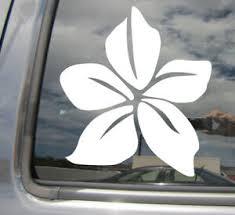 Plumeria Flower Hawaii Islands Auto Window Quality Vinyl Decal Sticker 05011 Ebay