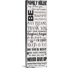 Greatbigcanvas Family Rules By Taylor Greene Canvas Wall Art 2197842 24 12x36 The Home Depot