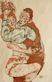 Love Making - Egon Schiele riproduzione stampata o copia dipinta a mano e  ad olio su tela