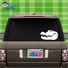 Amazon Com Car Decal Geek Crocodile Alligator Head Vinyl Decal Sticker Bumper Cling For Car Truck Window Laptop Macbook Wall Cooler Tumbler Die Cut No Background Multi Sizes Colors White 8 Automotive