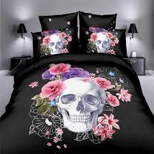 skull bedding set style 3d sugar skull