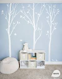 White Tree Wall Decals White Birch Trees Decal Nursery Wall Etsy