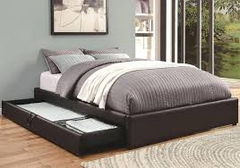 white leather queen bed frame size