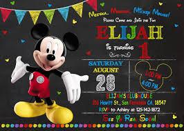 Invitacion De Mickey Mouse Para Imprimir Mickey Por Kidiinvitation