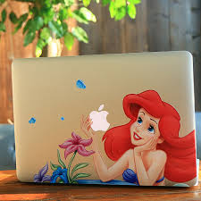 Cartton Mermaid Ariel Princess Flowers Decal Laptop Skin Sticker For Apple Macbook Pro Air Retina 13 13 3 Inch Stickers Sticker Black Laptop Notelaptop Sticker Skin Aliexpress