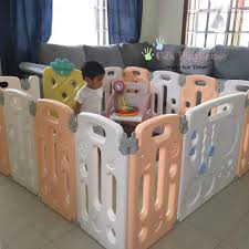 Cj Playhouse Foldable Fruitfence Play Fence Play Pen 12 2 Panels 144x144cm Shopee Philippines
