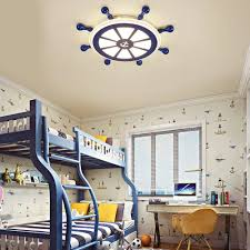 Kids Room Led Lighting Rudder Flush Mount Ceiling Light For Boys And Girls Room Led Lights