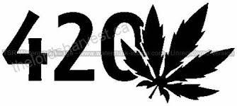 420 Pot Leaf Die Cut Vinyl Car Decal Window Sticker Patio Lawn Garden B016etpygu