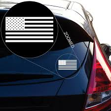 Amazon Com American Flag United States Vinyl Decal Sticker 559 3 X 5 7 White Automotive
