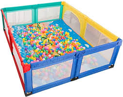 Amazon Com Playpens For Toddlers Kids Activity Centre Large Playpen Kid S Protective Fence Indoor Baby Playards Safety Crawling Mat Playground Fence Anti Fall Play Pen With Balls 7 Sizes Safety Home Kitchen