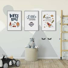 Boys Rule Kids Room Poster Nordic Style Kids Decoration Scandinavian Picture Poster Art Wall Art Picture Home Decor Canvas Print Painting Calligraphy Aliexpress