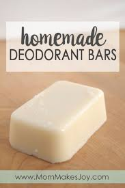how to make homemade deodorant bars
