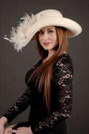 Priscilla White Wool Hat - Derby Hats by Polly Singer Couture Hat