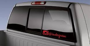 Custom Instagram Car Sticker Decal Zeroapex