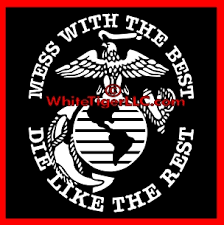 Usmc Ega Mess With The Best Die Like The Rest Window Decal Stickers