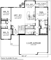 3 car garage ranch style house plans