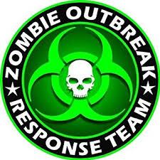 Amazon Com Sassy Stickers Zombie Outbreak Response Team Green Skull Vinyl Decal Sticker 5 Color Automotive