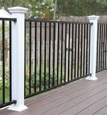 Designer S Image 72 W X 34 H Black Level Rail Panel At Menards Railings Outdoor Iron Railings Outdoor Deck Stair Railing