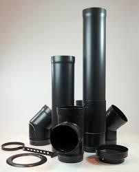 black carbon chimney wood stove chimney