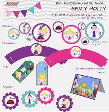 Kit Imprimible Personalizado Cumpleanos Ben Y Holly Nina