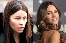 photos of hot celebs without makeup