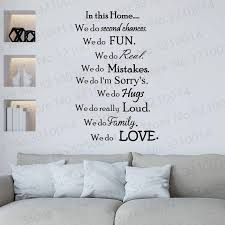 In This Home We Do Love Wall Decals Family Rules Wall Decal Living Room Decor Family Quotes For Home Pw130 Wall Stickers Aliexpress