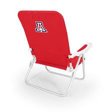 ncaa monaco reclining beach chair