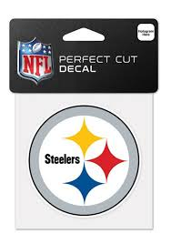 Pittsburgh Steelers 4x4 Perfect Cut Auto Decal White 5711541