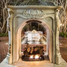 garden fireplace design ideas