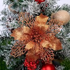 christmas flowers glitter tree garland