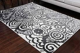 oriental carpet area rug black cream