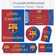 Barcelona Digital Birthday Party Set Barcelona Deco Theme