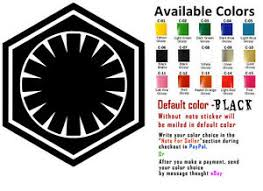First Order Vinyl Decal Sticker Car Window Art Bumper Starwars Star Wars Design Ebay