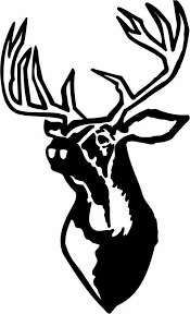 Deer Head Wall Decal 2 Custom Wall Graphics