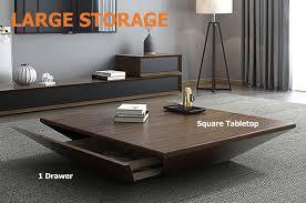 storage square drum coffee table