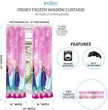 Franco Kids Room Window Curtain Panels Drapes Set 82 X 63 Disney Frozen Dark Purple Draperies Curtains Home Decor