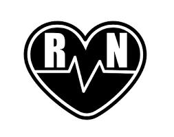 Nurse Rn Heart Ekg Permanent Vinyl Decal Sticker Window Car Van Laptop Ebay