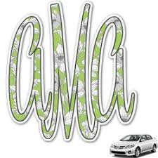 Custom Monogram Car Decals Design Preview Online Youcustomizeit