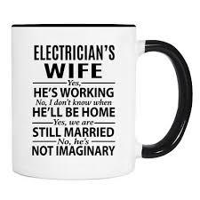 mug electrician s wife mug gifts
