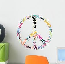Peace Sign Wall Decal Wallmonkeys Com