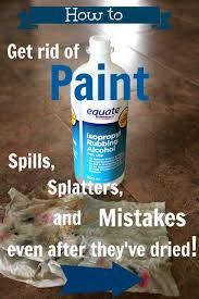 how to get rid of paint spills