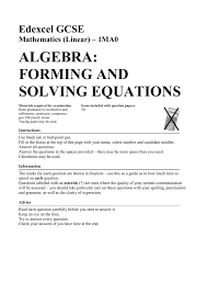 algebra solving equations answers