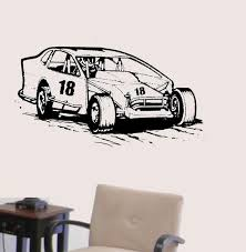 Modified Racecar Vinyl Wall Decal Racing Race Car Extreme Etsy