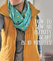 sew an infinity scarf in 10 minutes