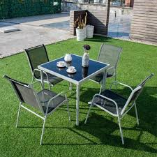 piece steel outdoor bistro set