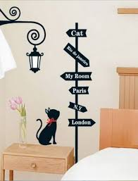Black Cute Kitten Wall Decal For Girl Bedroom Interior Design Great Ideas For Pet Lovers Interior D Kids Room Wall Decals Wall Decals For Bedroom Wall Decals