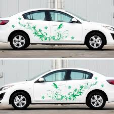 3pcs Set Universal Auto Modified Decal Vinyl Stickers Natural Flower Vine Dragonfly For Whole Car Body Car Stickers Aliexpress