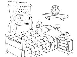 messy bedroom clipart black and white