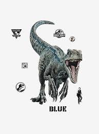 Jurassic World 2 Blue Velociraptor Giant Wall Decal