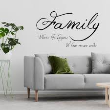 Family Quote Wall Sticker Love Sign Decor Vinyl Decal Etsy